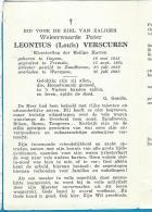 Bidprentje   E.P.   H.Harten  Leontius  Louis  Verscuren  Itegem  1913 -  Waregem  1960 - Images Religieuses