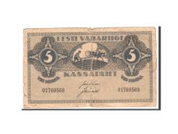 Estonia, 5 Marka, 1919, KM:45a, Undated, TB - Estonie