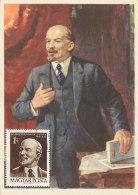 D26144 CARTE MAXIMUM CARD 1961 HUNGARY - LENIN COMMUNISM CP ORIGINAL