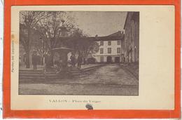 Ardèche : Vallon, Place Du Verger, Precurseur - Vallon Pont D'Arc