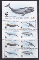 South Africa 1998 WWF/Whales 2x4v (+margin)  ** Mnh (32505) - Zuid-Afrika (1961-...)