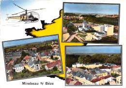 21-MIREBEAU-SUR-BEZE- LE SILO, L'EGLISE, LES ECOLES , MULTIVUE - Mirebeau