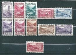Timbres  D´andorre De 1932/33  N°37 A 45   Neufs  * Petite  Charnière (cote 300€) - Neufs