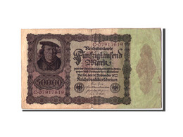 Allemagne, 50,000 Mark, 1922, KM:79, 1922-11-19, B - [ 3] 1918-1933 : Repubblica  Di Weimar