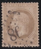 France    .  Yvert    30          .          O       .              Oblitéré - 1863-1870 Napoleon III With Laurels