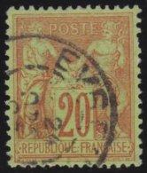 France    .  Yvert    90          .          O       .              Oblitéré - 1876-1898 Sage (Type II)