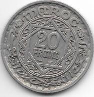 *morocco 20 Francs Ah 1366  Km 45  Xf+ - Maroc