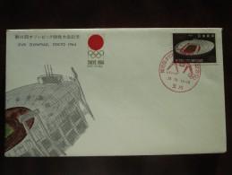 1964 Japan - Tokyo Summer Olympic Games - Special Postmark Cover (Wrestling) - 6 Of 20 - Summer 1964: Tokyo