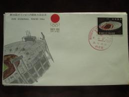 1964 Japan - Tokyo Summer Olympic Games - Special Postmark Cover (Gymnastics) - 18 Of 20 - Summer 1964: Tokyo