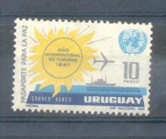 URUGUAY AN 1968 AÑO INTERNACIONAL DE TURISMO TOURISME YVERT AERIENNE NR. 335 MNH - Uruguay