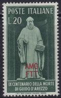 5204. Italy Trieste Zone A 1950 Guido Of Arezzo, MNH (**) Michel 110 - 7. Trieste