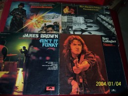 COLLECTION DE  4 DISQUES ANCIEN °° JAMES BROWN X2 + GALLAGHER + TEN YEARS AFTER  DOUBLE - Collections Complètes