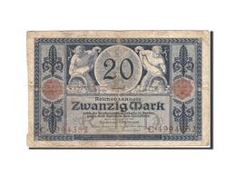 Allemagne, 20 Mark, 1915-1919, KM:63, 1915-11-04, B+ - [ 3] 1918-1933 : République De Weimar