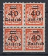 (02171) Danzig 158 Postfrisch Viererblock - Danzig