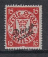 """(02466) Danzig Dienstmarke 44 Ungebraucht Mit Falz Geprüft """"Rahmen Eingebuchtet"""" - Danzig"""