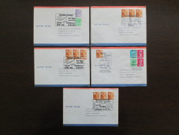 UK, Great Britain, British Airways First Flight Concorde, 5 Covers, 5 Briefe, Commemorative Postmark, Sonder Stempel 2