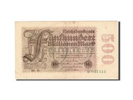 Allemagne, 500 Millionen Mark, 1923, KM:110a, 1923-09-01, TTB - [ 3] 1918-1933 : Weimar Republic