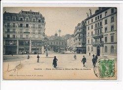 SUISSE - GENEVE - Place Du Rhône Et Hôtel De L'Ecu - Très Bon état - GE Geneva