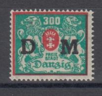 (03690) Danzig Dienstmarke 38 VIII Ungebraucht Mit Falz Geprüft - Danzig