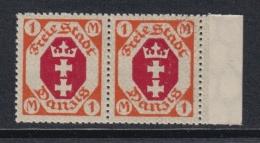 (03713) Danzig 83 II Postfrisch Im Paar Mit Normalmarke - Danzig