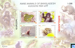 Bangladesh Stamps 2011, Rare Animals, MS - Bangladesh