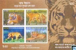 Bangladesh Stamps 2013, Save The Tiger, MS - Bangladesh