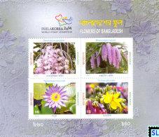 Bangladesh Stamps 2014, Flowers, MS - Bangladesh