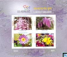 Bangladesh Stamps 2014, Flowers (None-Perforated), MS - Bangladesh