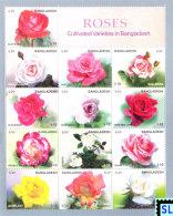 Bangladesh Stamps 2010, Roses, Flowers, MS - Bangladesh