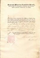 BRAZIL - 1838  Provincia DA BAHIA - Vice Consul Do URUGUAY Certify That Cidade Da Bahia Esta Livre De PESTE - Documentos Históricos