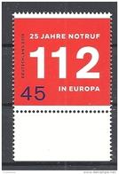 Deutschland / Germany / Allemagne 2016 3212 ** 25 Jahre Notruf In Europa (11. 02. 2016) - Nuovi