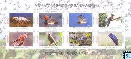 Bangladesh Stamps 2013, Migratory Birds, MS - Bangladesh