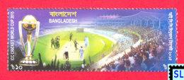 Bangladesh Stamps 2015, ICC Cricket World Cup, MNH - Bangladesh