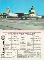 AVIATION CIVILE ~ 1980 - BIMOTEUR à HÉLICES - ANTONOV ´AN 24´ - AÉROPORT CONSTANTA - ROUMANIE Et HORAIRE De VOLS (q-374) - 1946-....: Ere Moderne