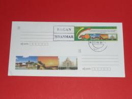 2014 Myanmar Burma Birma Ganzsache Postal Stationery Used O 22.11.2015 Bagan - Myanmar (Burma 1948-...)