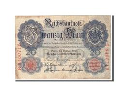 Allemagne, 20 Mark, 1910, KM:40b, 1910-04-21, TB - [ 2] 1871-1918 : Empire Allemand