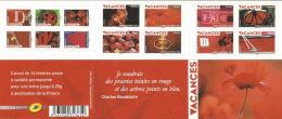 """CARNET BC 0315 """"VACANCES"""" Autoadhésif, Neuf Luxe NON PLIE Bas Prix. - Commémoratifs"""
