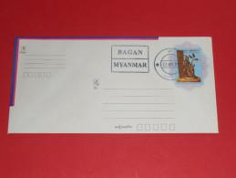 Myanmar Burma Birma Ganzsache Postal Stationery Used O 22.11.2015 Bagan Union Of - Myanmar (Burma 1948-...)