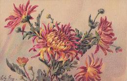 Be - Cpa Illustrée Lily Giry  - Fleurs De Chrysanthèmes - Andere Zeichner