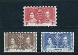 Nigeria  ** , 43 - 45 ,  Krönung Von König Georg VI. Und Königin Elisabeth I - Nigeria (1961-...)