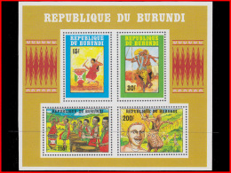 Burundi BL 0128/28A**  Danses Et Tambours Intore  MNH - 1990-99: Mint/hinged