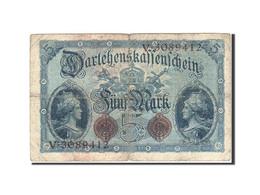 Allemagne, 5 Mark, 1914, KM:47b, 1914-08-05, B+ - [ 2] 1871-1918 : Duitse Rijk
