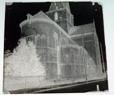 Falaise Notre Dame De Guibray ? - Calvados 14 Normandie - Négatif Sur Plaque De Verre 6X6,5cm Env - Bien Lire Descriptif - Glass Slides