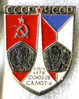 Interkosmos USSR-Czechoslovakia Soyuz-28 Space Flight Gubarev / Remek 1979 - Space
