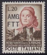 5220. Italy Trieste Zone A 1951 Pietro Perugino, MNH (**) Michel 157 - 7. Trieste