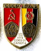 Interkosmos USSR-East Germany Soyuz-31 Space Flight Bykovsky / Jähn 1978 - Space