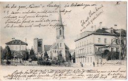 FRIBOURG - LE TEMPLE REFORME ET LA TOUR HENRI  -  Mars 1901 - FR Fribourg