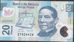 MEXICO P122f 20  PESOS 28.10.2008   Serie H       FINE - Mexique