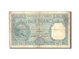 France, 20 Francs, 20 F 1916-1919 ''Bayard'', 1916, 1916-08-02, KM:74, TB, Fa... - 1871-1952 Circulated During XXth