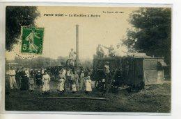 39 PETIT NOIR  Carte TRES RARE La Machine à Battre Batteuse Ouvriers Anim Villageoise 1913 Timb - Edit Vve Ka  /D14-2016 - France
